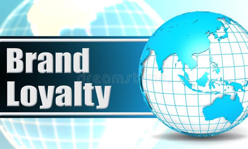Fidelidad a la marca con el globo de la esfera stock de ilustración