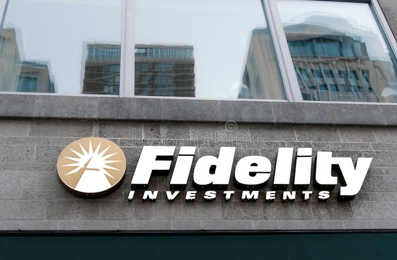 Fidelity Investments si ramifica fotografie stock
