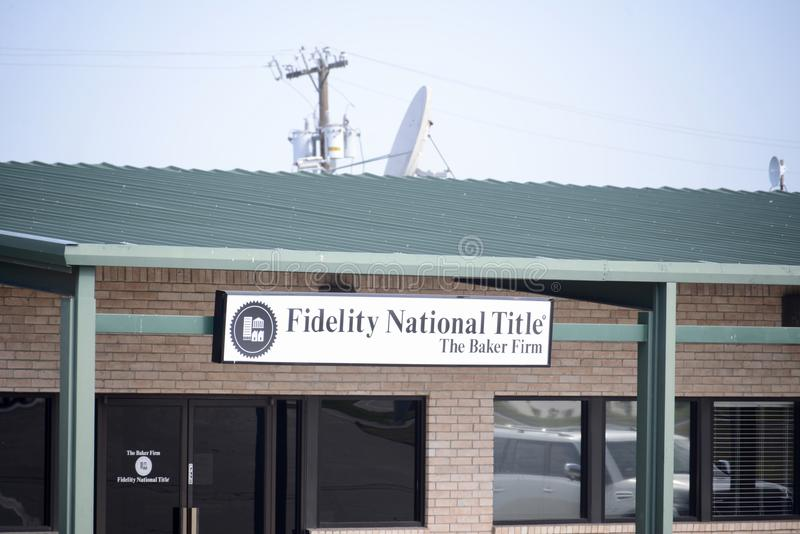 Fidelity National Title, Fort Worth, Texas. Fidelity National Title is a member of the Fidelity National Financial family of companies and the nation's stock image