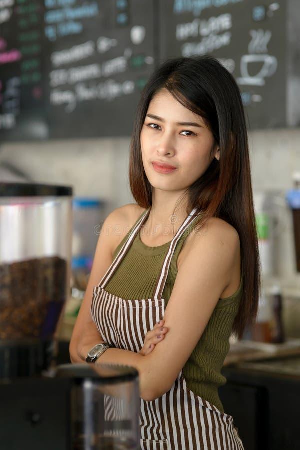 Fidentbarista Jonge Aziatische Ondernemer stock afbeelding