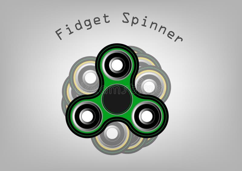 Fidget εικονίδιο κλωστών - παιχνίδι για την ανακούφιση πίεσης και τη βελτίωση του εύρους προσοχής Γεμισμένος με το γκρίζο και μαύ απεικόνιση αποθεμάτων
