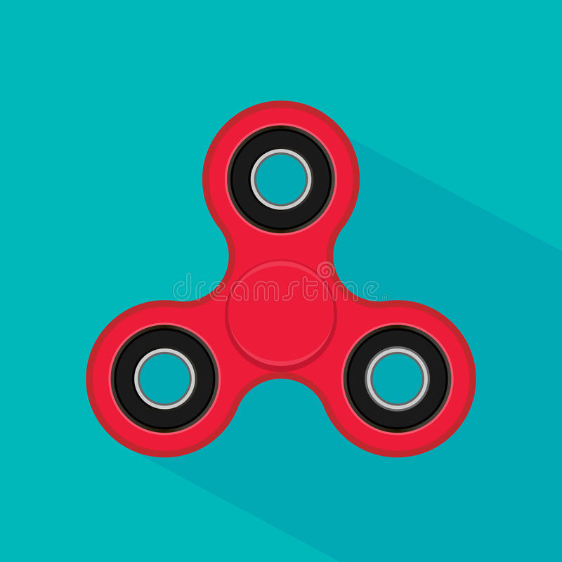 Fidget finger spinner stress, anxiety relief toy. Hand spinner icon on white background. Vector illustration. Eps 10 vector illustration