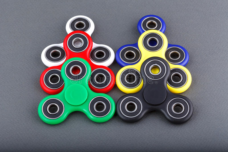 Fidget spinner stock photos