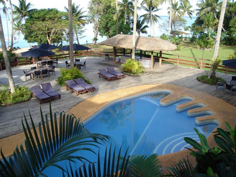 Fidschi-Abdruck-Pool stockfotos