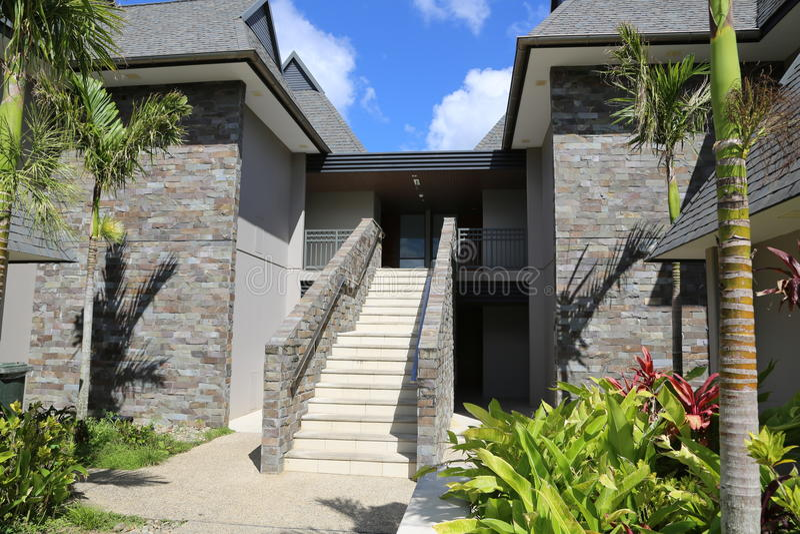 Fidschi-Erholungsort stockfoto