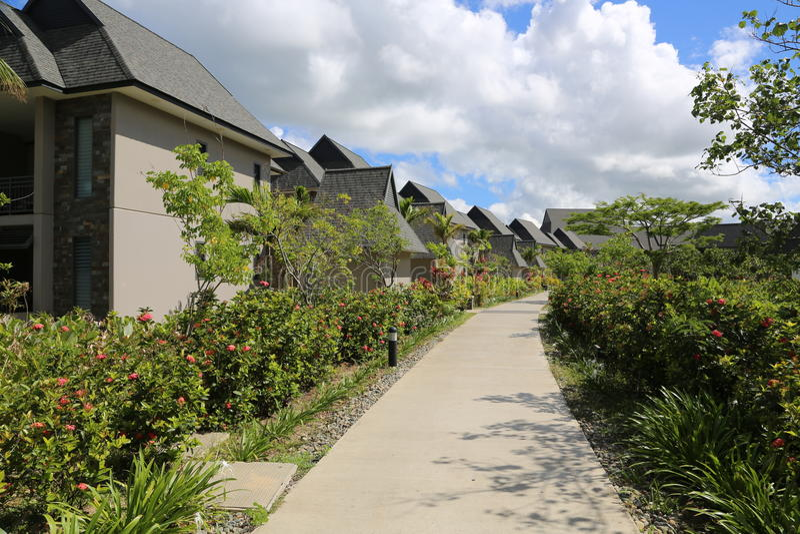 Fidschi-Erholungsort stockbilder