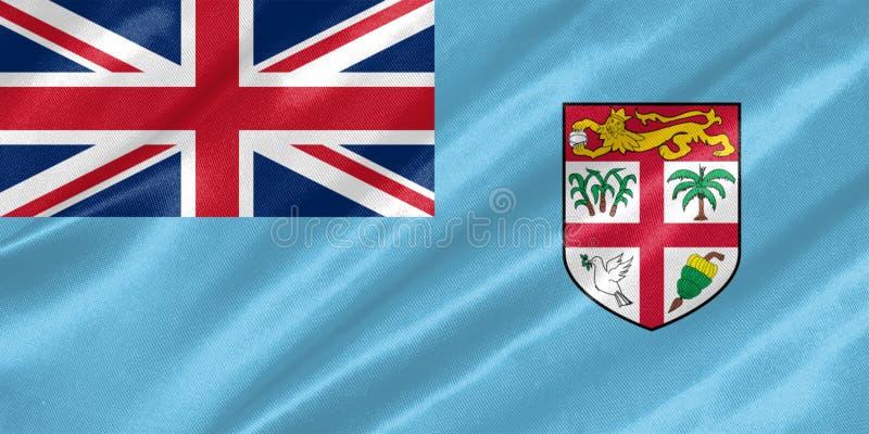 Fidschi-Flagge lizenzfreie stockbilder