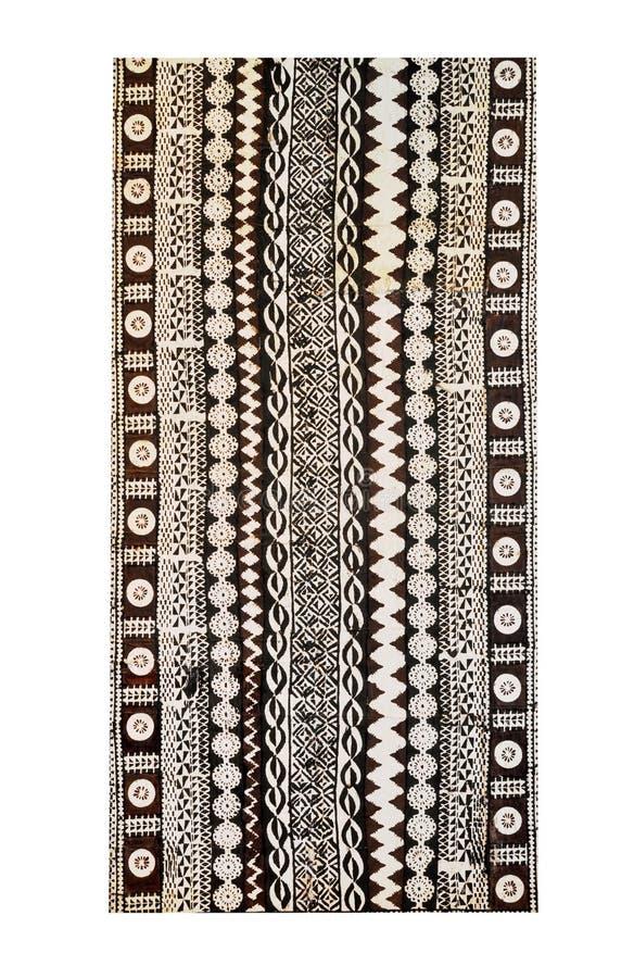 Fidschi-traditionelle Kultur - Tapa-Tuch stockfoto