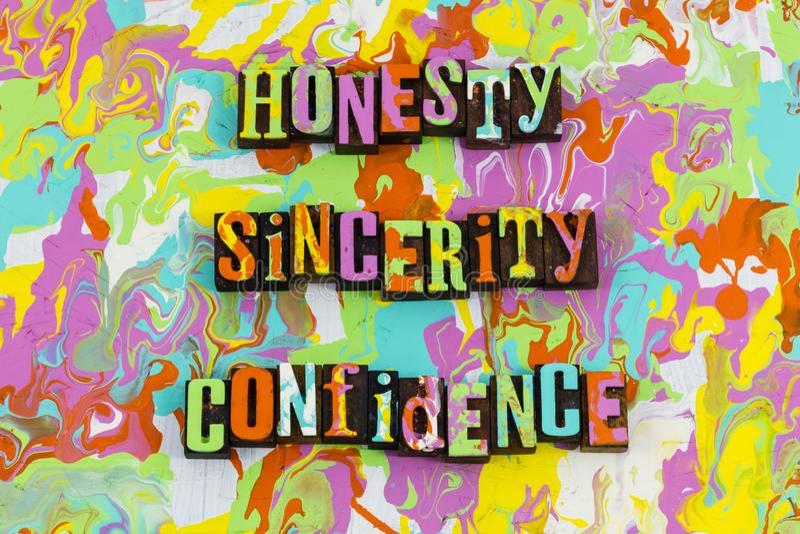 Fiducia di sincerità di onestà royalty illustrazione gratis