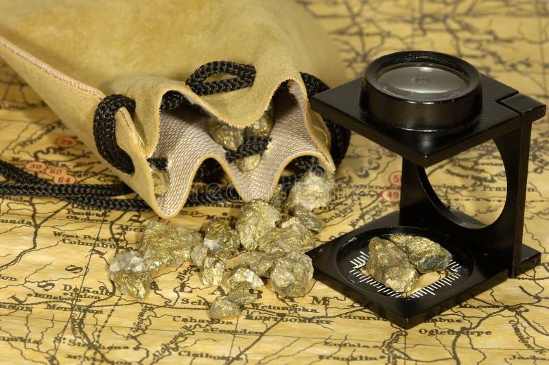 Fiebre del oro imagen de archivo libre de regalías