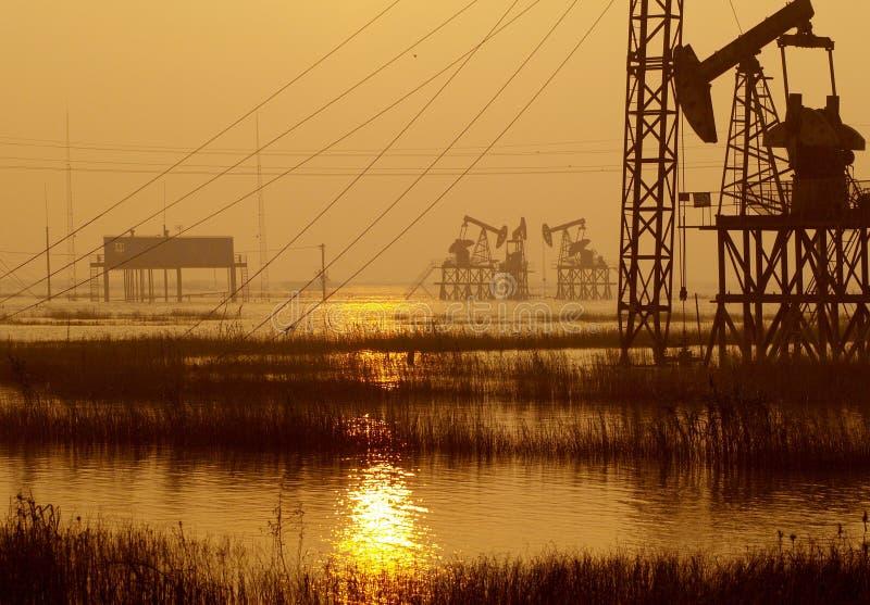 Fieldã chinois de pétrole de province de Jiangsu photos stock