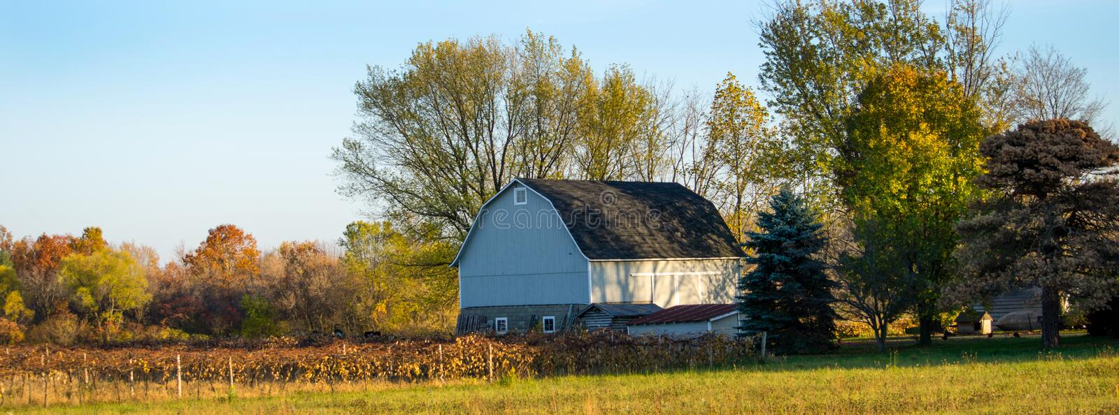 Field and barn royalty free stock image