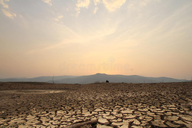 field of cracked earth stock photography