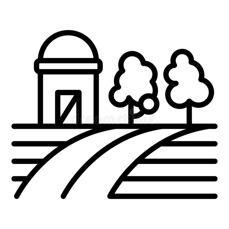 Field farming icon, outline style vector illustration