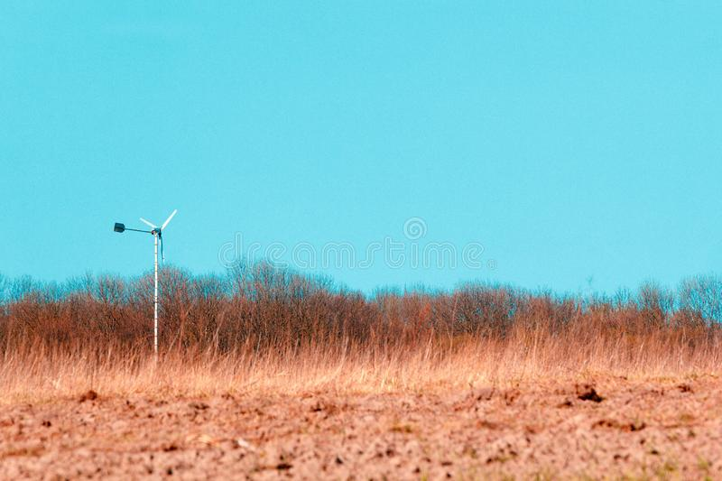 Field of Farmland Crops and Beautiful Blue Sky Above. 1 royalty free stock photos
