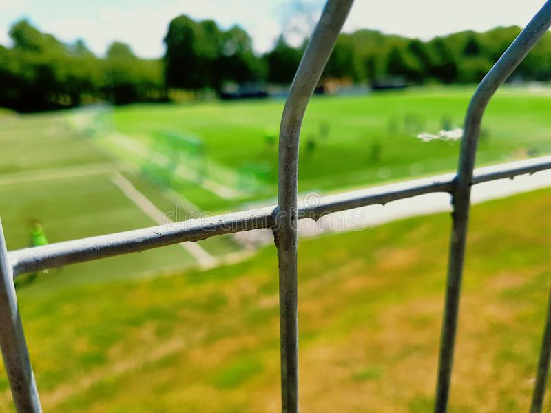 Bluring fence royalty free stock image
