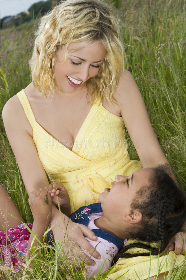 Download Field of Fun stock photo. Image of american, loving, daughter - 5494946