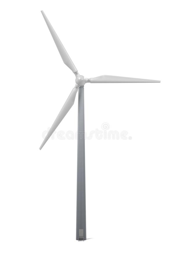 field green turbines wind vektor illustrationer