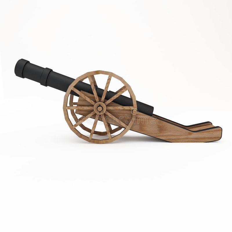 Field-gun, Cannon Stock Images