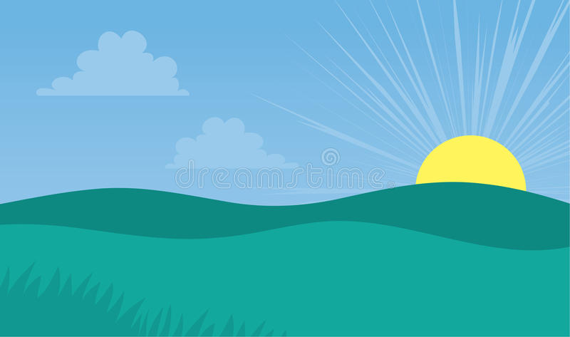 Download Field Hill stock vector. Illustration of curves, june - 26834200