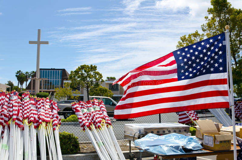 Field Of Honor Event Editorial Stock Photo