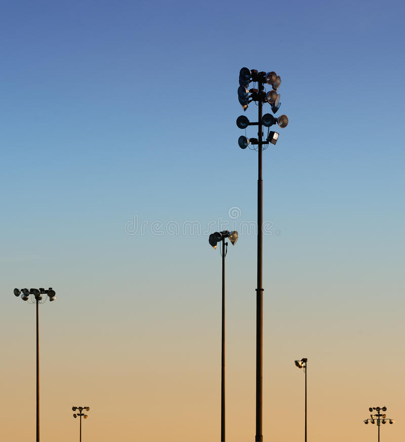 Download Field light stands stock image. Image of several, vertical - 13381139