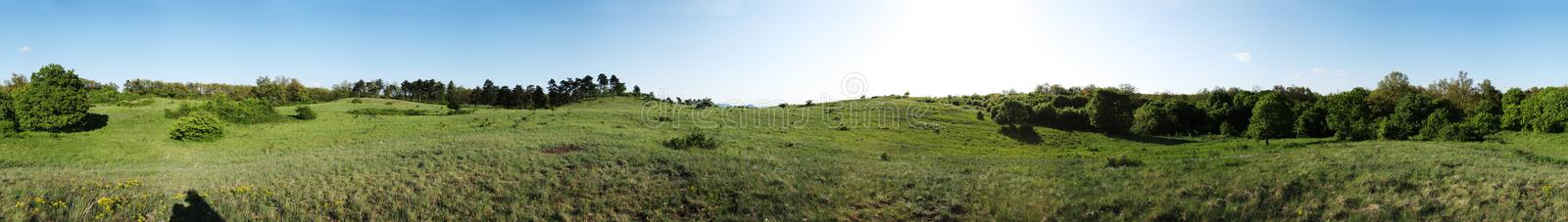 Field panorama royalty free stock photos
