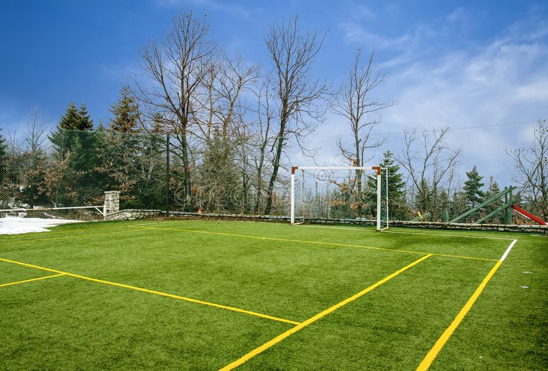 Field for soccer and other sports stock image