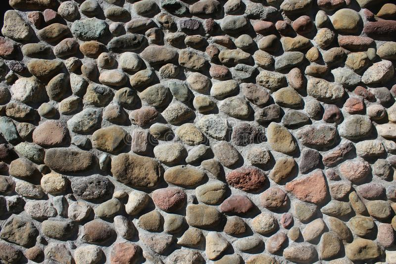 Field Stone with Concrete Mortar royalty free stock photography