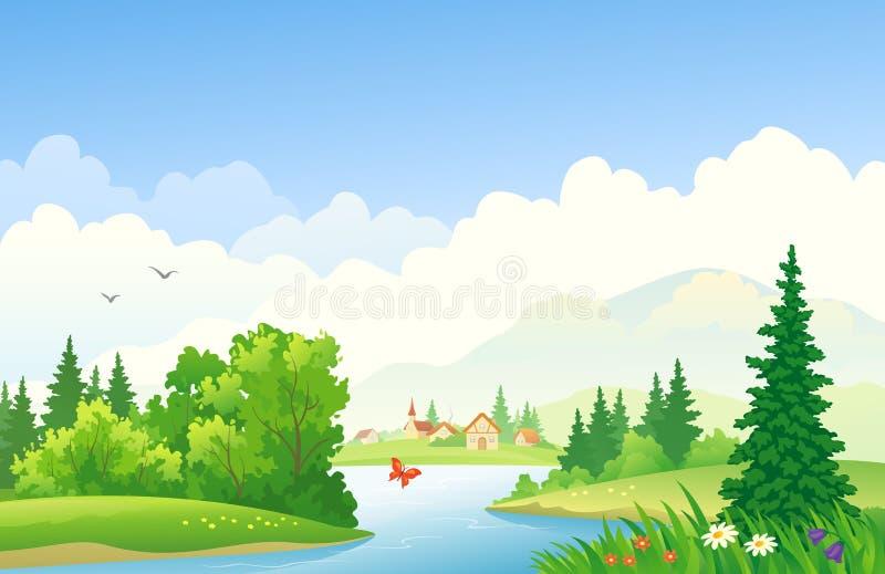 field treen stock illustrationer