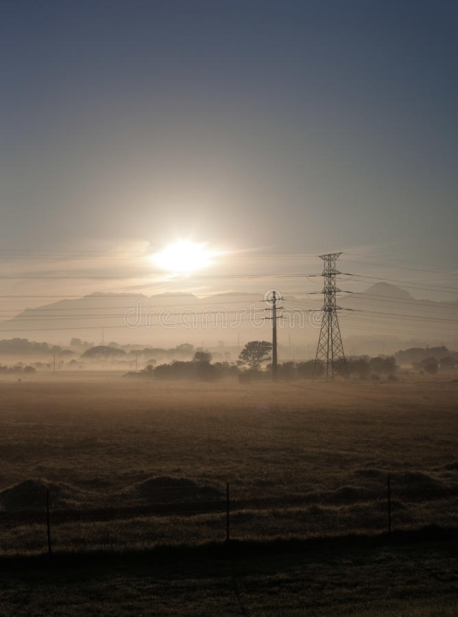Free Fields And Power Lines 2 Stock Images - 24483584
