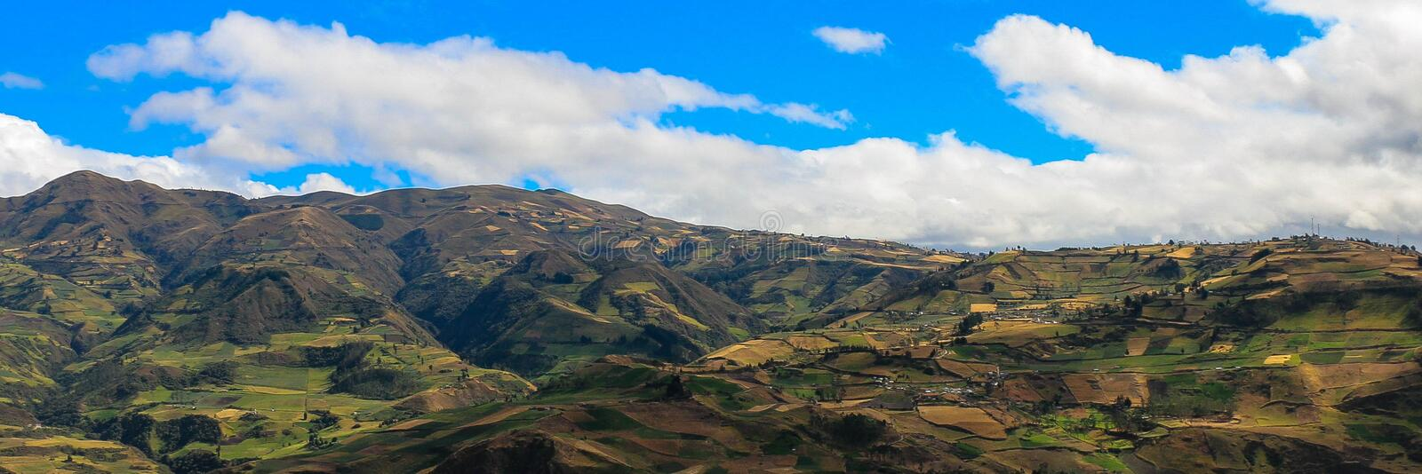 Fields of Ecuador royalty free stock photos