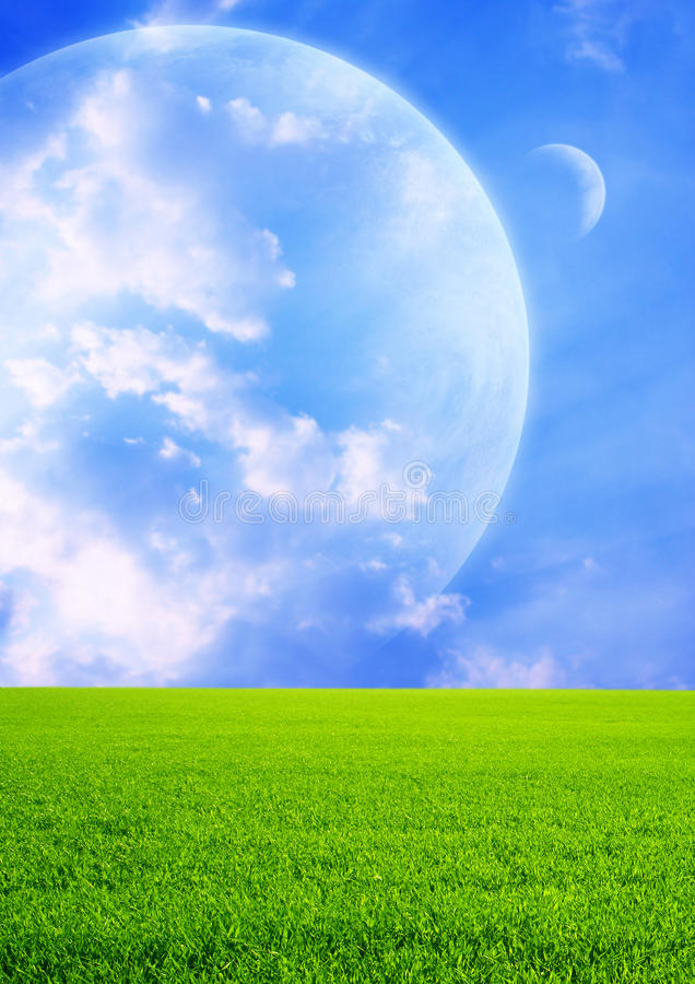 Download Fields of a far planet stock illustration. Image of grass - 10379589
