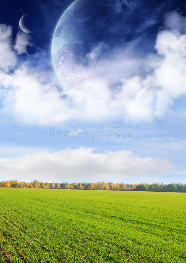 Download Fields of a far planet stock illustration. Image of away - 12820717