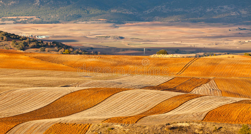 Fields And Hills Of Winter Spain Royalty Free Stock Images