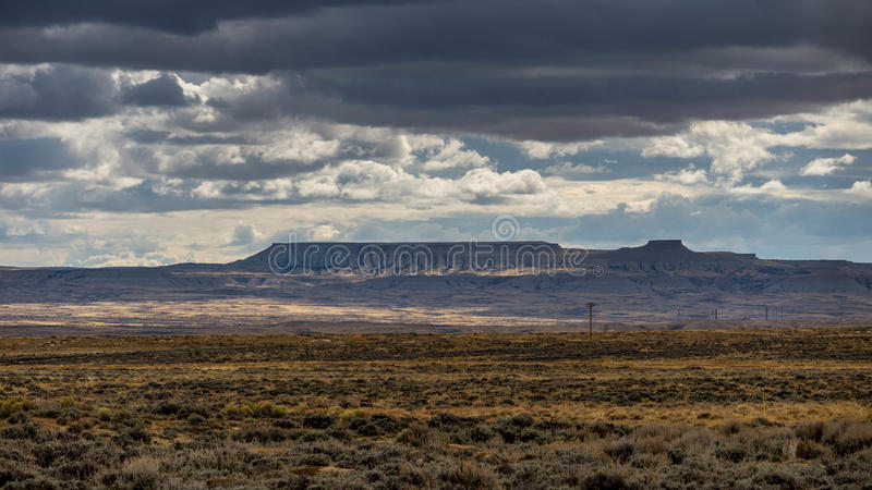 Fields in Wyoming royalty free stock image