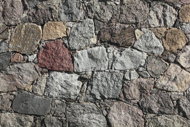 Fieldstone-muur van een schuur stock foto