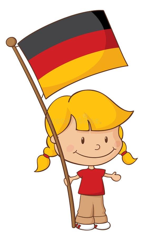 Fier d'être allemand illustration de vecteur