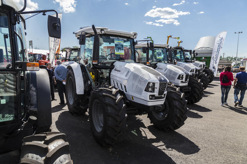 35° Fiera Agricola di Treviglio. 35° Agricultural fair in Treviglio (BG), Lombardy, Italy. With tractors, cattle and many more stock photo