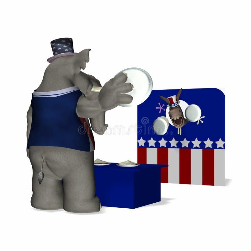 Fiera politica - tiro del grafico a torta