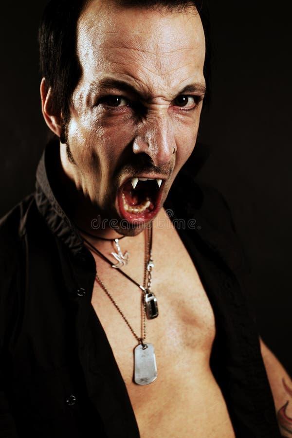 Fierce vampire stock images
