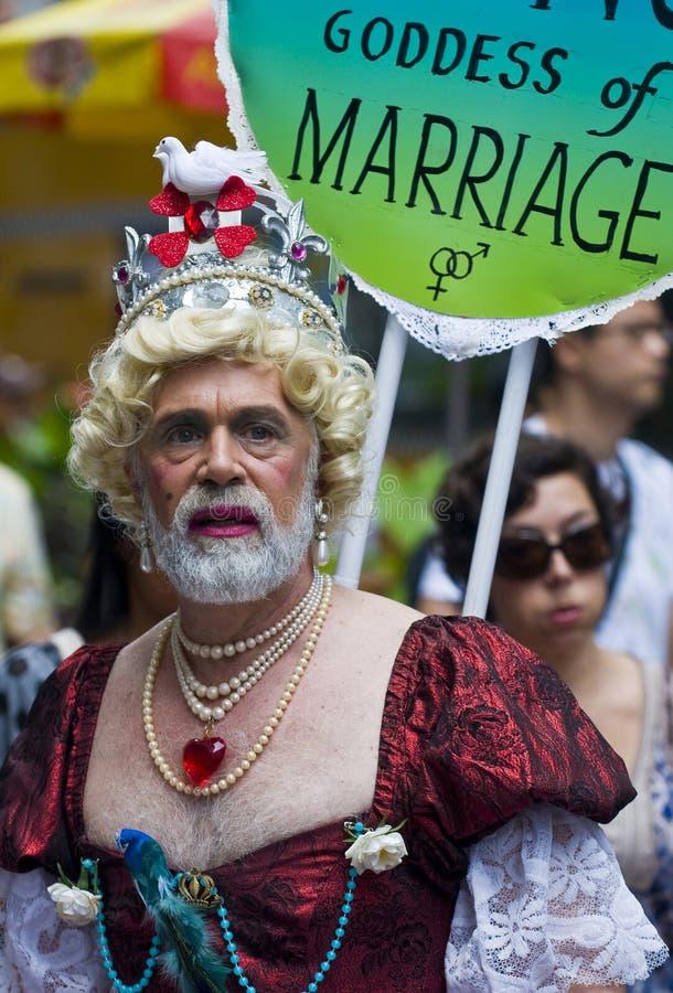 Fierté d'homosexuel de New York image libre de droits