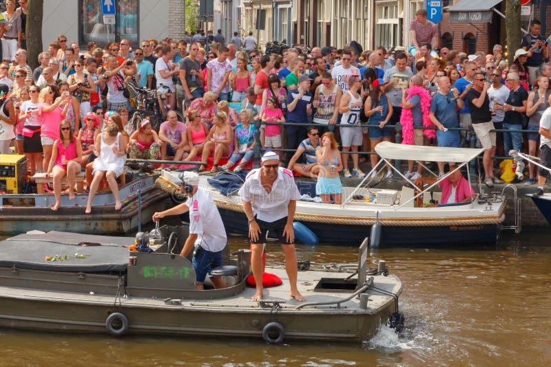 Fierté gaie 2014 d'Amsterdam images stock