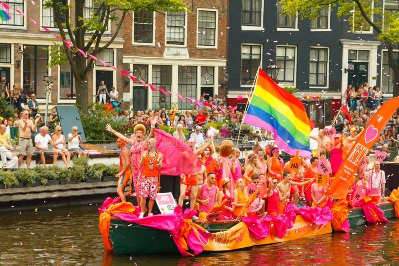 Fierté gaie 2014 d'Amsterdam images libres de droits
