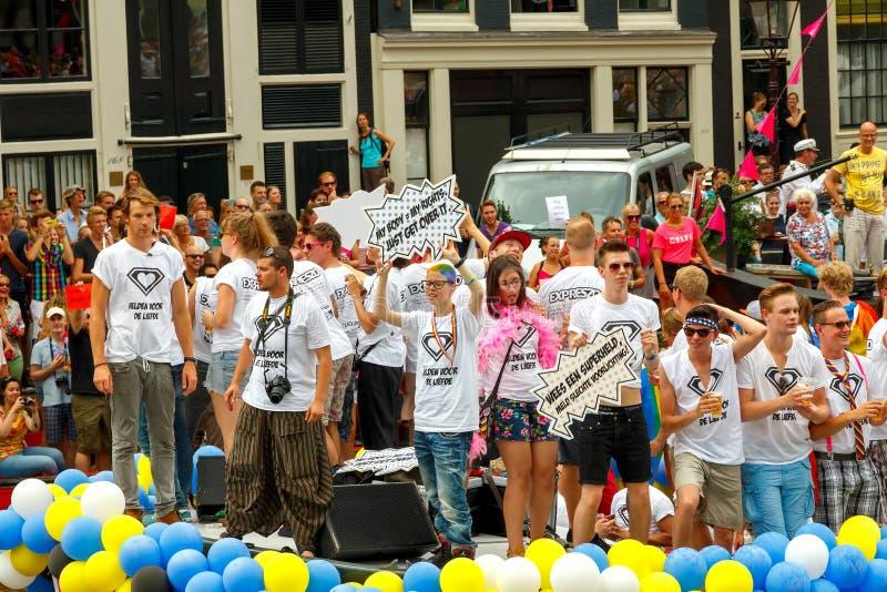 Fierté gaie 2014 d'Amsterdam image stock