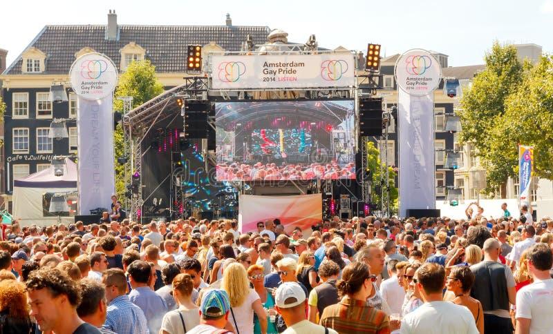 Fierté gaie 2014 d'Amsterdam photographie stock libre de droits