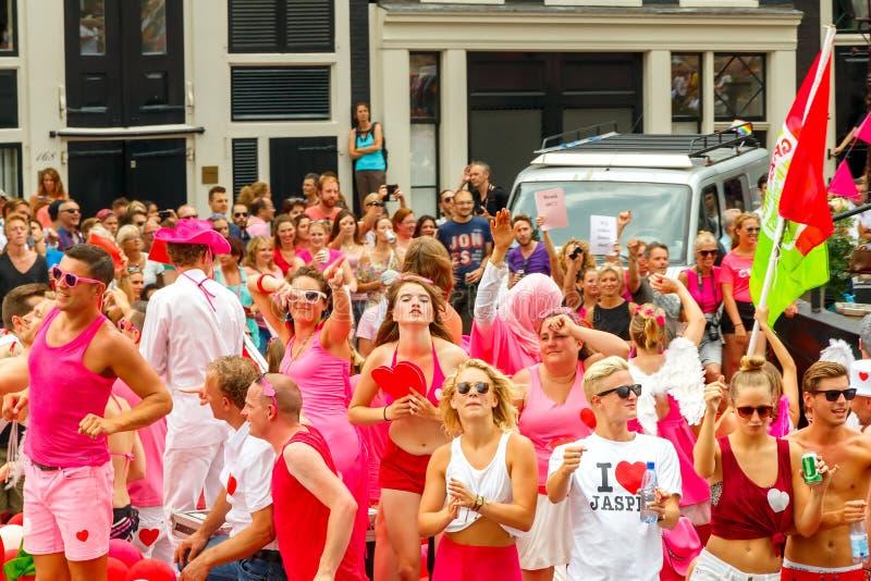 Fierté gaie 2014 d'Amsterdam photos libres de droits