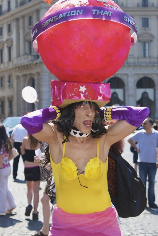 fierté Roma de 2009 personnes images stock