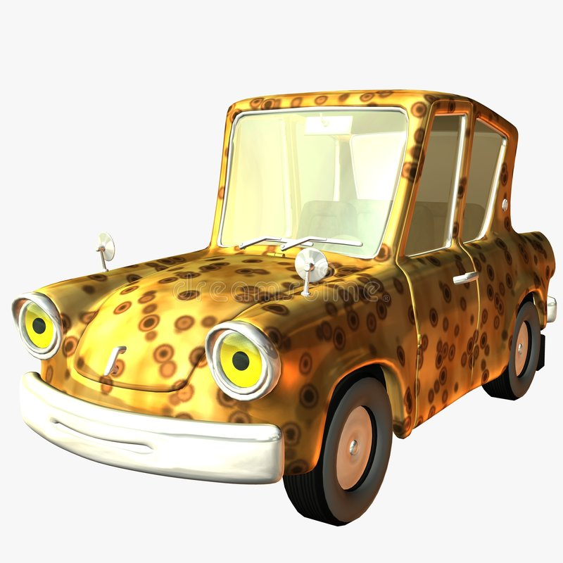 Fierté sauvage de véhicule de Toon illustration stock