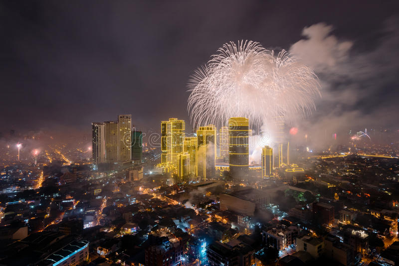 Fierworks in Manilla royalty-vrije stock foto